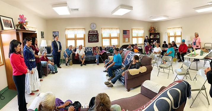 As part of the July 1 visit, Yee and Deputy Treasurer Swenson joined Vice President Lizer, First Lady Nez, and Second Lady Lizer at the Ft. Defiance Senior Center to promote financial literacy among elderly people, which is one of the top priorities for the Office of the First and Second Lady and the Treasurer's Office. (Office of the President and Vice President)