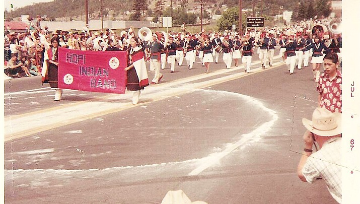 Out of the past: Hopi band marches in Williams parade