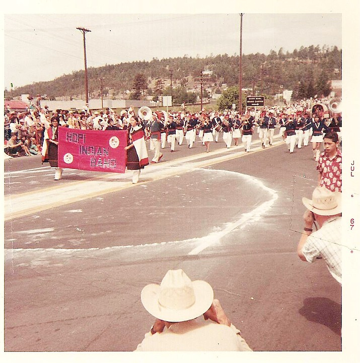 The Hopi Indian Band marches in a parade in Williams, Arizona. (Photo/Williams Historic Photo Archive)