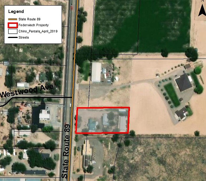 Site of the auto shop. (Courtesy map)