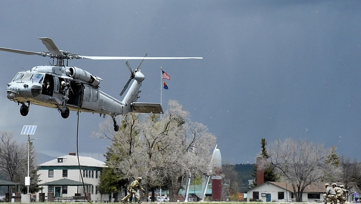 U.S. special forces rehearse air assault missions at Camp Navajo