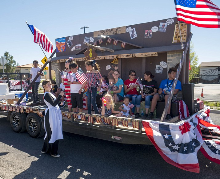 The Canyon Plaza Resort was one of several patriotic parade entries this year. (Mike Quinn/NPS)