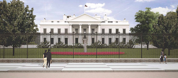 A rendering of the new White House fence from Pennsylvania Avenue. (Image/NPS)