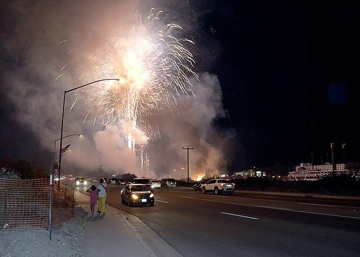 A mortar went astray at the Fourth of July fireworks show in Laughlin. (Photo by Jesse Stinson/Courtesy)