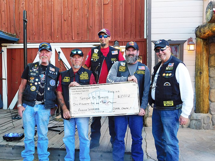 The town of Williams is the first and only city designated as an official Nation of Patriots city. Riders gathered at Wild West Junction in Williams July 5. (Nation of Patriots/photo)