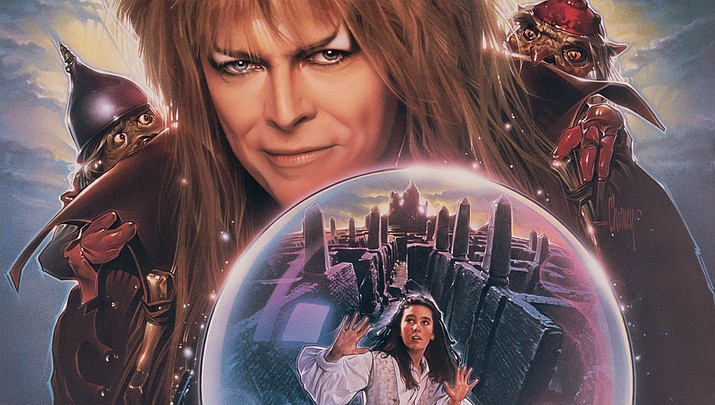 Starring David Bowie as Jareth, the Goblin King, and Jennifer Connelly as Sarah, who must rescue her baby brother by finding her way through the massive maze of the title, Labyrinth. (The Jim Henson Company)