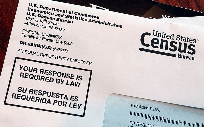 This March 23, 2018, file photo shows an envelope containing a 2018 census letter mailed to a U.S. resident as part of the nation's only test run of the 2020 Census. Legal wrangling has surrounded the U.S. census count for decades, culminating in this year s fight over adding a citizenship question. (Michelle R. Smith/AP, File)
