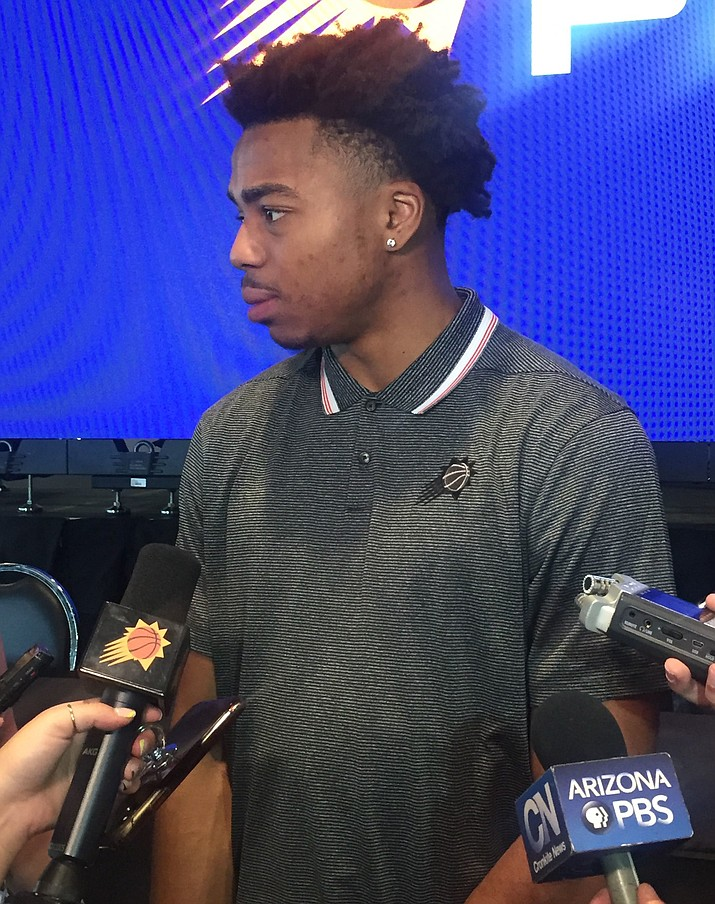 Despite an NBA spotlight, the Suns' Jalen Lecque says he is not overwhelmed by the transition from high school to the pros. (Photo by Jacob Rosenfarb/Cronkite News)