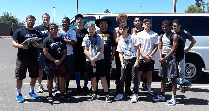 Henderson (Nevada) Basic Academy of International Studies competed at the July 6 Weekend Wars Tournament at Mingus Union. Photo courtesy Mario Chagolla Sr.
