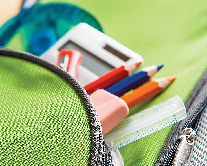 Prescott Unified School District students can receive a free, grade-appropriate backpack stuffed with school supplies at an event July 24. (Courier stock photo)