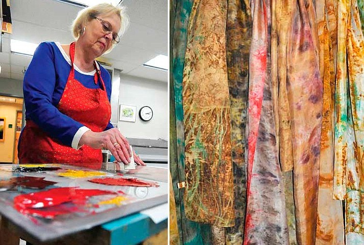 Les Femmes des Montage is a female group of Prescott Artists who will be featuring items in glass, ceramics, jewelry, photography, paintings, weavings, silk scarves and wearables. (Courier file photos)