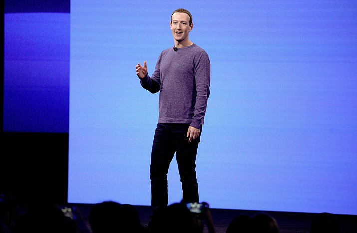 Facebook CEO Mark Zuckerberg makes the keynote speech at F8, Facebook's developer conference April 30, 2019, in San Jose, Calif. A Wall Street Journal report says that the FTC has voted this week to approve a fine of about $5 billion for Facebook over privacy violations. The report Friday, July 12, 2019, cites an unnamed person familiar with the matter. (Tony Avelar/AP, File)