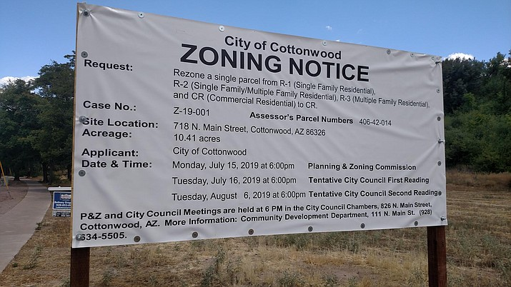 The Cottonwood Planning and Zoning Commission plans to address this North Main property at Monday's meeting.