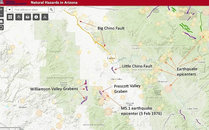 Map Of Arizona Prescott.Large Earthquakes Possible For Prescott Area How To Prepare The