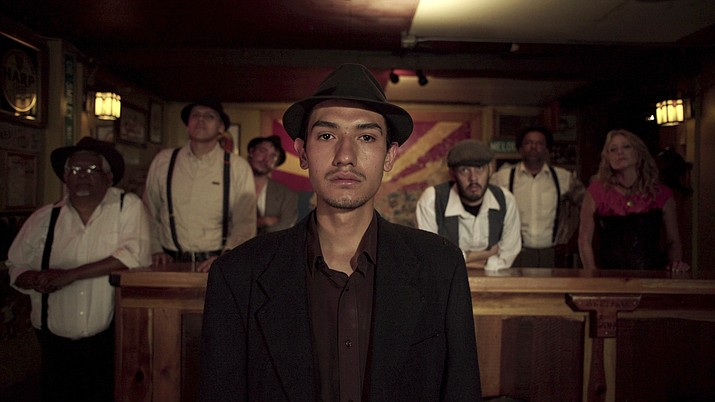 "This undated photo provided by 4th Row Films shows Fernando Serrano, 23, who plays a striking miner in ""Bisbee '17,"" a story of how some 1,200 miners, most of them immigrants, were pulled violently from their homes in Bisbee by a private police force and put on cattle cars for deportation to a desolate area of New Mexico in 1917. (Jarred Alterman/4th Row Films via AP)"