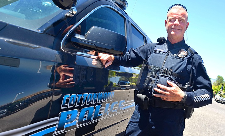 Cottonwood Police officer Mark Mann, 59, was named New Employee of the Year at the Cottonwood Police Department. VVN/Vyto Starinskas