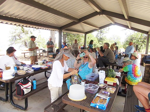 Members of the Grand Canyon Historical Society gathered at Shoshone Point for their annual picnic July 13. (Photo/GCHS)