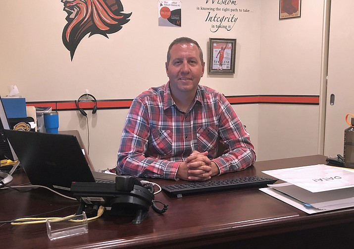 Eric Evans was hired as the principal at Williams High School in 2019. (Wendy Howell/WGCN)