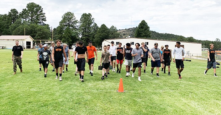 Williams Vikings geared up for the summer during football camp held at Williams High School July 8-11. (Submitted photos)