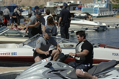A multi-agency enforcement patrol takes place this weekend, pursuing people operating their vessels under the influence (OUI) of alcohol or drugs on the Colorado River. (Photo/AZGFD)