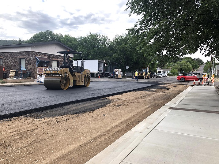 Work on streets in Williams continues. City crews ripped out old pavement and laid down new asphalt in just three days on Third Street. (Wendy Howell/WGCN)