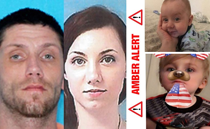 "Arizona authorities say an Amber Alert issued for 2-year-old Blaze Kirkley and 4-month-old Ryder Kirkley, taken from state Department of Child Safety custody, was canceled after they ""were found safe"" in Louisiana where their parents, Melissa Joy Gladden, 34, and Jerry Jay Kirkley, 34 were taken into custody."