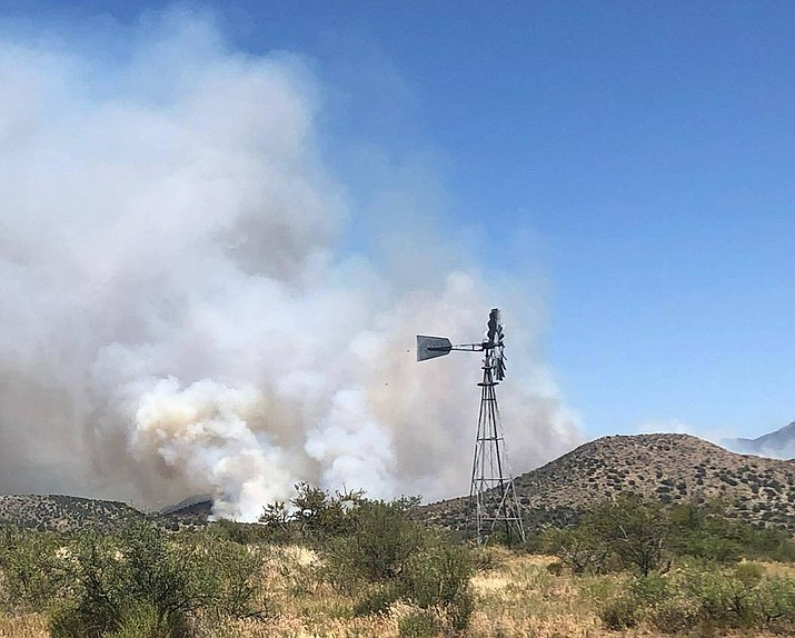 The Cellar Fire burns south of Prescott on Monday, July 16, 2019. (USFS/Courtesy)