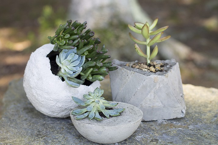 Planters made from concrete. (AP photo)