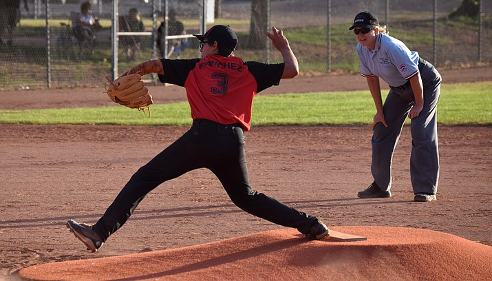 Verde Valley's Isaiah Sanchez pitches in the District 10 Little League all-stars baseball juniors tournament. VVN/James Kelley