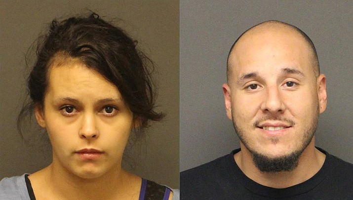 Carrie Conlyn Vanover and Mark Anthony Baldonado Jr. have each been charged with first-degree murder after the discovery of a body, believed to be Vanover's mother Shawn Maureen Vanover of Kingman, in the backyard of a residence in the 4500 block of Glen Road. (MCSO photos)
