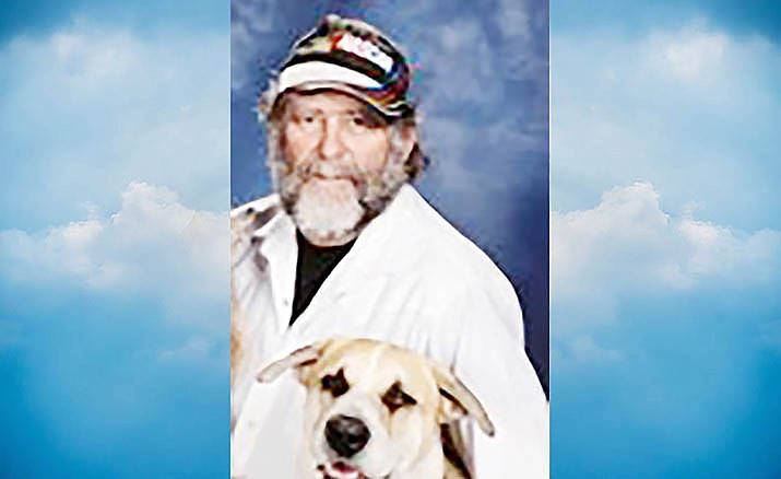 Ralph E. Davis and his dog, Chewy.