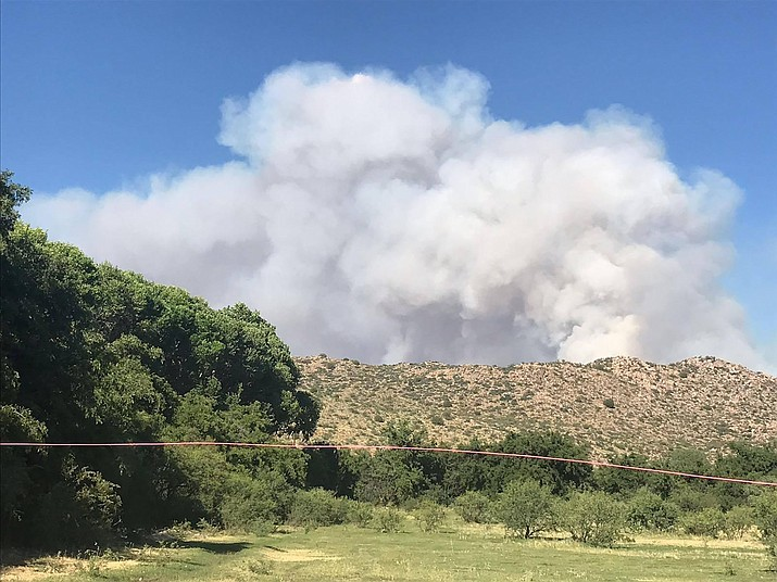 The Cellar Fire burns south of Prescott. (USFS/Courtesy)