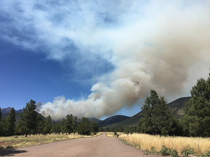 The Museum Fire has burned 400 acres northwest of Flagstaff. (Coconino National Forest/photo)