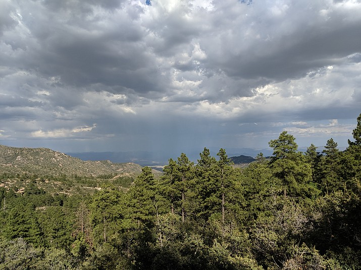 Thunder could be heard and lightning seen from the Hualapai Mountains as a storm moved east of Kingman on Sunday, July 14. (Photo by Travis Rains/Daily Miner)