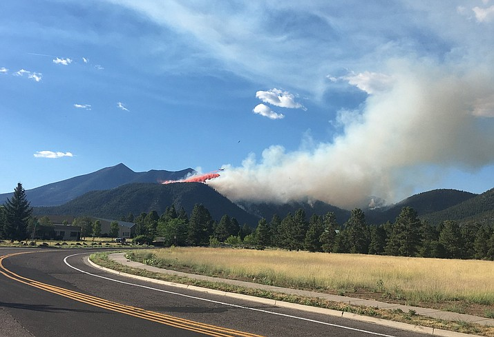 The Museum Fire jumped to 1,000 acres overnight July 21. (Coconino National Forest/photo)