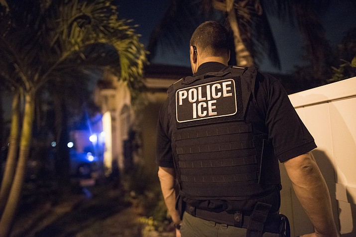 The administration of President Donald Trump announced Monday, July 22, 2019 that it will vastly expand the authority of immigration officers to deport migrants without allowing them to first appear before judges, its second major policy shift on immigration in eight days. Starting Tuesday, fast-track deportations can apply to anyone in the country illegally for less than two years. (ICE) photo)
