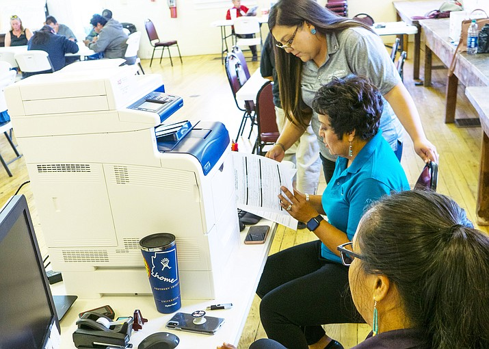 Twin Arrows hosted a job fair in Winslow July 9 and July 12 at the Winslow Visitor Center. (Todd Roth/NHO)