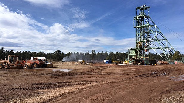 Production at Energy Fuels Inc.'s Canyon Mine, located just south of the South Rim of Grand Canyon, could be affected by the Trump Administration's decision not to impose uranium quotas at this time. (Laurel Morales/KJZZ Fronteras Desk)