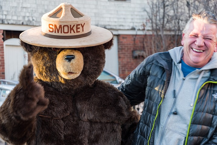 In July 2012, Kaibab National Forest, the city of Williams and Williams Chamber of Commerce teamed up to bring Smokey Bear to Williams. Smokey has been a fire safety fixture at the visitor center ever since. (Photo/Coconino National Forest)