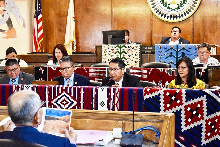 Navajo Nation President Jonathan Nez delivered the State of the Navajo Nation Address to the 24th Navajo Nation Council, July 15, during the opening day of the 2019 Summer Council Session in Window Rock. (Photo/Office of the President and Vice President)