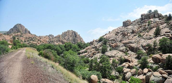 Looking south at the Points of Rocks pre-development along the Peavine Trail Prescott Thursday, August 9, 2018.  (Les Stukenberg/Courier)