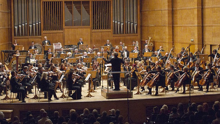 In March, the 80-piece Siberian State Symphony Orchestra from Krasnoyarsk, Russia performs an all-Rachminoff program at the Yavapai College Performing Arts Center, as part of the Yavapai Symphony Association concert season. (Siberian State Symphony Orchestra, courtesy)