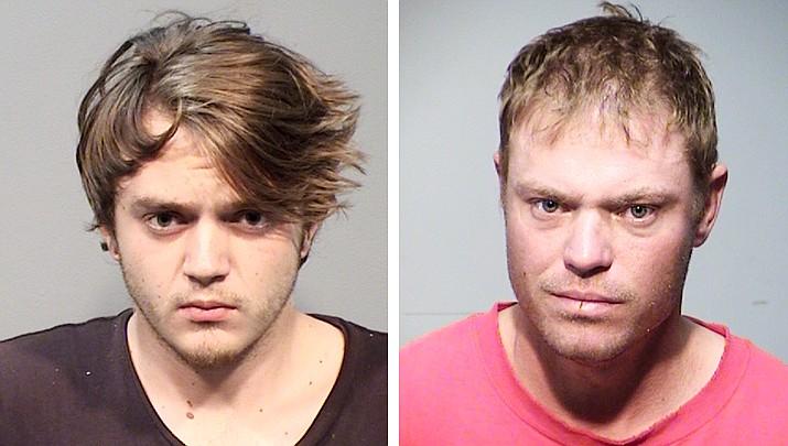 Prescott residents Harrison J. Stephens (left), 21, and Shane R. Beck, 36, were arrested Thursday, July 25, after a violent altercation. (PPD/Courtesy)