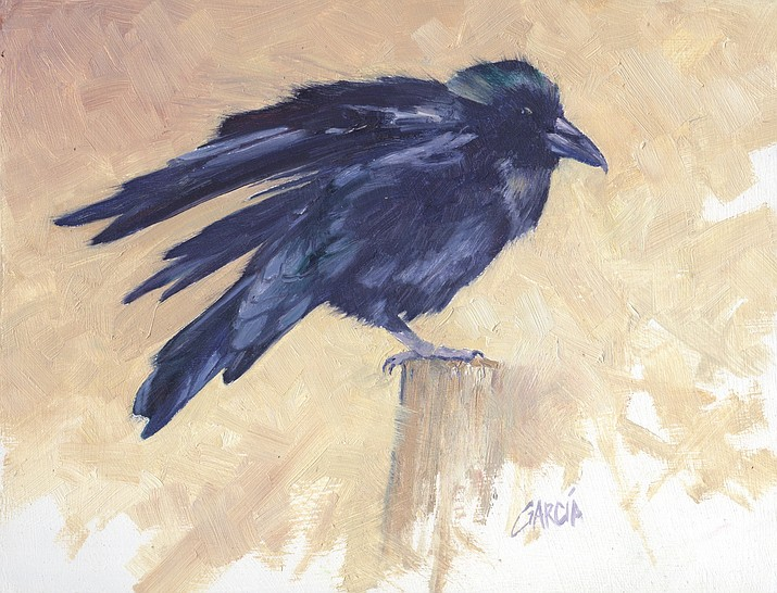 """Mountain Trails Gallery debuts a new exhibition """"Birds of a Feather"""" with a public reception on 1st Friday, Aug. 2, 5-8 p.m. Pieces will include several similar to this work, called """"Morning Stroll,"""" by Betty Carr. Courtesy image"""