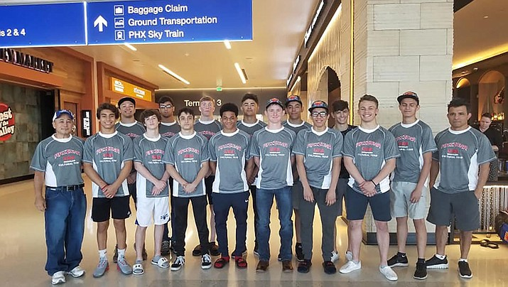 Lee Williams' Jimmy Wayman, third from right, poses before flying overseas for the 2019 Arizona/Japan Cultural Exchange program.