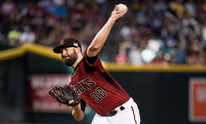 Despite giving up two earned runs in six innings, Arizona's Robbie Ray had his streak of wins in four consecutive starts broken in a 5-1 loss to Miami. (File photo courtesy of Sarah Sachs/Arizona Diamondbacks)