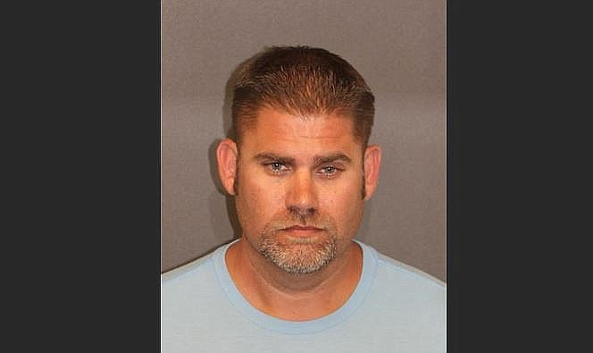 Yucca Fire District Chief Matthew Young has been arrested after turning himself in for embezzling approximately $40,000, according to Mohave County Sheriff's Office. Courtesy of the Mohave County Sheriff's Office
