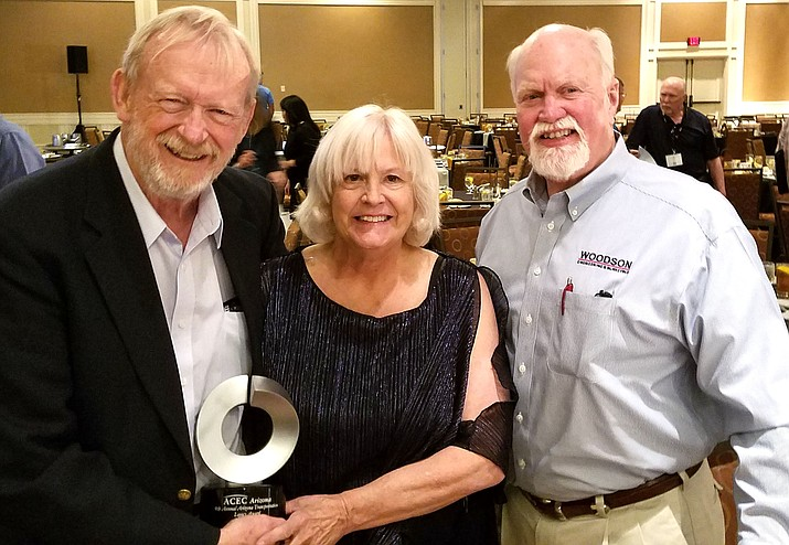 """Congratulations to Jeffrey Swan, of Pine Valley, who was recently honored with the """"Arizona Transportation Legacy Award"""" in Tucson."""