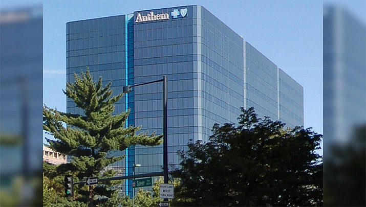 The Anthem Blue Cross Blue Shield building in Denver as of Aug. 23, 2011. Kim Lauerman was diagnosed with ovarian cancer, doctors wanted to give her a drug that helps prevent infections and fever during chemotherapy. Her insurer said no. (Photo by Andrew Williams, cc-by-sa-3.0, https://bit.ly/2LN7Pcy)
