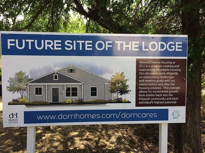 Two lodge model homes are to be built to house four to six of CCJ's homeless clientele each. (Nanci Hutson/Courier)